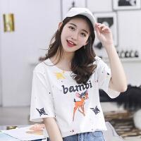 实拍女短袖夏季新款2018新款t恤韩版宽松潮流T恤女上衣