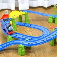 小火车套装电动轨道男孩子组装玩具多层3-8岁儿童礼物