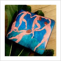 蒙马特大街名画钱包小钱包梵高星空艺术油画轻薄钱包卡包
