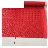 塑料防滑地垫门垫厨房浴室塑胶pvc防水垫橡胶垫地板垫楼梯地毯 红色 人字纹