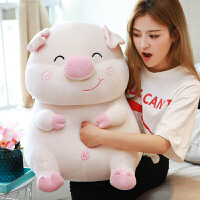 可爱小猪猪毛绒玩具抱枕暖手公仔布娃娃可插手玩偶女孩猪年吉祥物