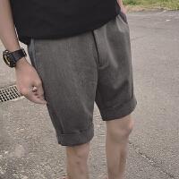 夏季新款男宽松纯色五分裤男士薄款简约休闲裤学生短裤中裤潮