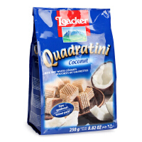 意大利Loacker莱家 椰子味威化饼干 250g 健康婴幼儿宝宝零食