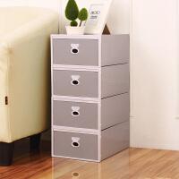 宿舍塑料整理箱内衣收纳盒三件套 有盖抽屉式装内衣内裤的收纳盒