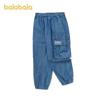 【品类日4件4折】巴拉巴拉童装男童裤子运动裤工装裤2021新款夏装儿童中大童男潮酷