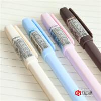 【12支包邮】芥末派纯色中性笔透明笔杆高端大气中小学生水笔