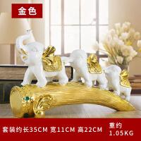 大象摆件 三只小象欧式创意家居装饰品家居酒柜工艺品0068