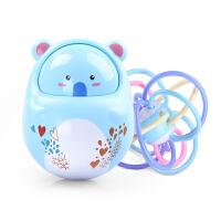 牙胶手抓球婴儿玩具摇铃不倒翁0-3-6-12个月宝宝早教智力