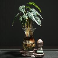 创意家居摆件小花器家居装饰品水培花插花瓶陶瓷玻璃水培
