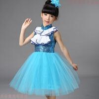 圣诞儿童演出服装幼儿中小学生合唱服男童舞蹈服女童公主裙蓬蓬裙