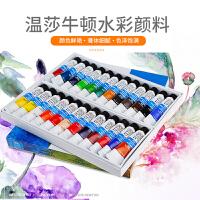 温莎牛顿水彩颜料24色18色12色管装透明水彩画颜料套装写生绘画颜料 贝碧欧水彩管状颜料 温艺分装水彩