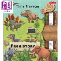 【中商原版】time Traveler Prehistory时间旅行:史前 儿童插图科普历史地理自然主题 精装 英文原版