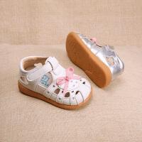 夏季新款女宝宝包头凉鞋女童公主鞋儿童皮鞋学步凉鞋
