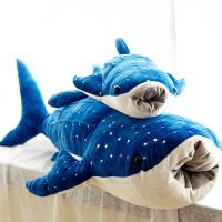 鲸鲨毛绒玩具 鲸鱼大布娃娃靠垫 鲨鱼蓝鲸儿童抱枕公仔