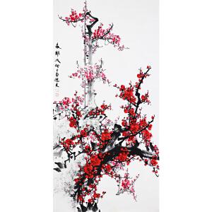 王进东《春归天地》著名梅花画家 有作者本人授权 带收藏证书