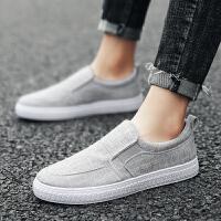 春夏季休闲鞋男鞋韩版潮流板鞋子男时尚亚麻帆布鞋低帮运动平底鞋