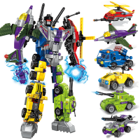 金刚5特警3模型儿童积木拼装玩具6-7-8-10岁男孩子变形机器人