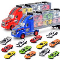 儿童玩具合金小汽车模型套装货柜车模型男孩玩具3-6惯性仿真货柜