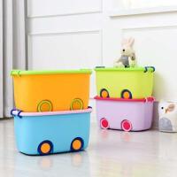泰蜜熊卡通儿童滑轮收纳箱大号衣服玩具整理箱储物箱居家玩具收纳必备收纳箱尺寸( 47*31.5*25cm)