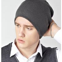 男韩版潮秋冬针织帽 冬天护耳包头帽 毛线帽保暖套头帽