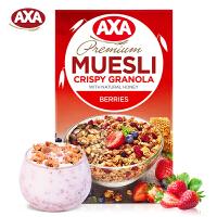 AXA(瑞典)进口水果浆果即食麦片270g脆麦非ica燕麦片早餐冲饮