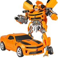 儿童礼物男孩变形玩具大黄蜂警车变身汽车机器人模型
