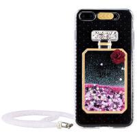 苹果6手机壳挂绳女透明iphone6硅胶套个性来电闪6splus