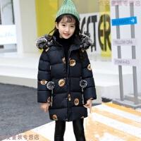 女童棉衣新款冬�b�和�棉�\中大童外套冬季中�L款羽�q加厚
