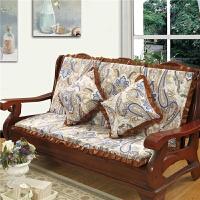 实木沙发垫子带靠背连体红木沙发坐垫单人木椅子垫加厚海绵可拆洗