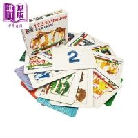 【中商原版】1、2、3去动物园字卡 1, 2, 3, to the Zoo Flash Cards 韵律启蒙 英文学习