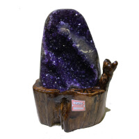 20180702232812654乌拉圭紫晶块簇 天然紫水晶洞招财 原石矿消磁办公摆件聚宝盆