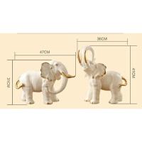 欧式玄关大象摆件 陶瓷工艺品 客厅电视柜家居装饰品