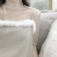 复古韩国i风日系小水玉点亲肤上衣显瘦长袖半高领蕾丝打底衫