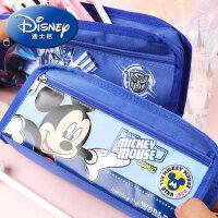 迪士尼笔袋文具盒男小学生大容量多功能男孩子文具可爱文具袋布的儿童幼儿园男童奥特曼变形金刚米奇铅笔盒