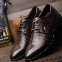 DAZED CONFUSED 潮牌2017男士皮鞋男鞋黑色新款夏季英伦正装商务尖头休闲鞋子
