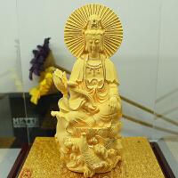 家居摆件如意观音定制礼品 绒沙金工艺品摆件观音菩萨佛像摆件