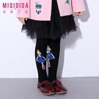 米奇丁当女童裤袜新品冬装中大童韩版百搭卡通少女童装长袜子