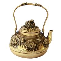 铜壶 黄铜壶 酒壶 青蛙荷花茶壶家居饰品工艺品摆件