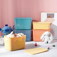 桌面收纳盒置物储物盒零食化妆品收纳筐衣物整理箱浴室杂物筐
