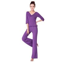 广场舞服装瑜珈服女套装新款舞蹈服中袖套装拉丁舞服夏