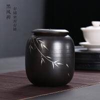 粗陶复古茶叶罐陶瓷中号半斤装红茶普洱存储密封高档礼盒包装