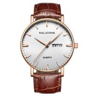 皮带手表男时尚男表日历石英表男士手表时装表腕表