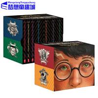 【全店满300减80】哈利波特英文原版 美版20周年纪念小说 Harry Potter 1-7册全集 魔法石 科幻小说 JK罗琳