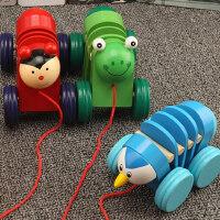 儿童益智力推车2-3-6岁宝宝1木质拖拉车积木玩具婴幼儿