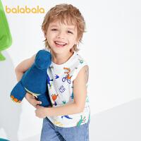 【抢购价:39.9】巴拉巴拉童装男童马甲儿童上衣宝宝背心2021夏装新款萌趣休闲小童