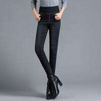 yaloo/雅鹿羽绒裤女新款高腰显瘦加厚牛仔裤外穿修身冬季白鸭绒