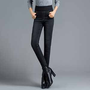 【一件三折 到手价:197.7】yaloo/雅鹿羽绒裤女新款高腰显瘦加厚牛仔裤外穿修身冬季白鸭绒