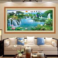 墙贴客厅办公室背景墙风水山水贴画创意立体墙壁画