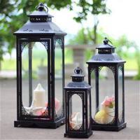 铁艺烛台摆件欧式防风落地马灯玻璃灯笼庭院家居婚庆路引风灯蜡台 +++蜡烛