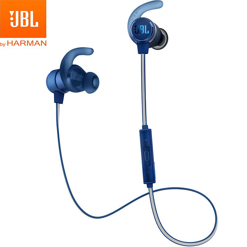 【当当自营】JBL T280BT 蓝色 入耳式蓝牙无线耳机 运动耳机 手机游戏耳机 苹果安卓通用 金属钛振膜 跑步磁吸式带麦JBL经典音质,磁吸防掉落,防水防汗!